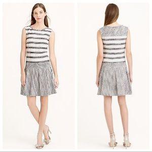 J. Crew Tweed Striped Drop Waist Dress